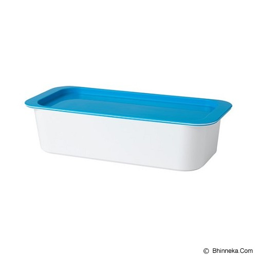 IKEA PRODUCTS Gessan Box With Lid [203.023.27] - White/Blue (V) - Container