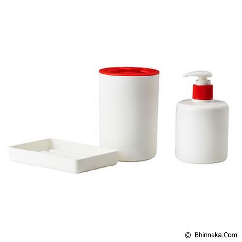 IKEA Varpan Set Perlengkapan Kamar Mandi 3Pcs - White - Tempat Sabun Cair