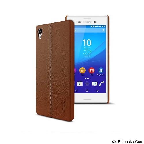 IMAK Ruiyi Leather Back Case Sony Xperia Z5 - Brown - Casing Handphone / Case