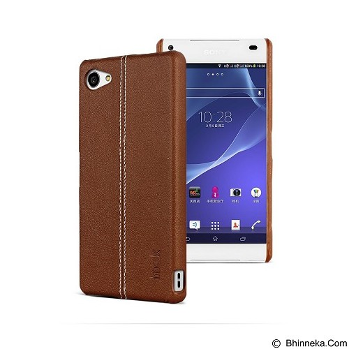 IMAK Ruiyi Leather Back Case Sony Xperia Z5 Compact - Brown - Casing Handphone / Case