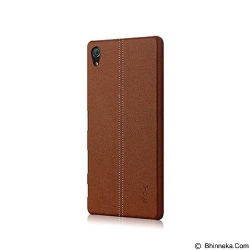 IMAK Ruiyi Leather Back Case Sony Xperia Z5 Premium - Brown - Casing Handphone / Case