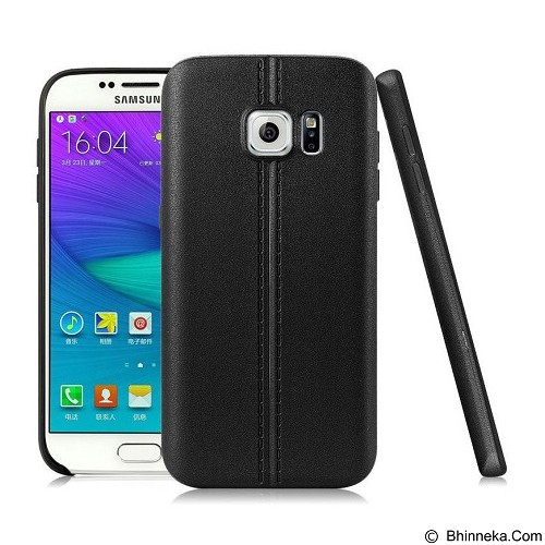 IMAK Vega Leather Back Case Samsung Galaxy S7 - Black - Casing Handphone / Case