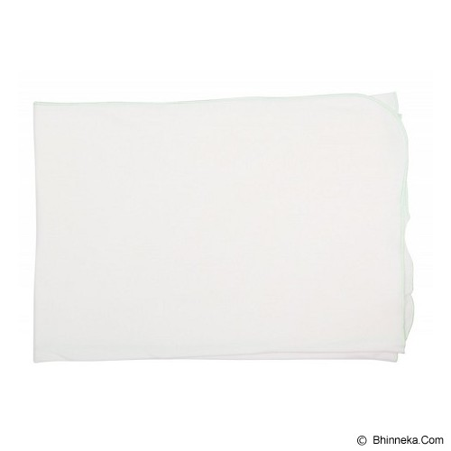 IMOCHI Selimut Bayi [blanket-P-GR] - White Green - Perlengkapan Tempat Tidur Bayi dan Anak