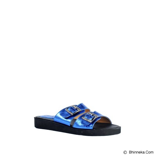 IN HER SHOES Juno Size 37 - Metallic Blue - Slippers Wanita