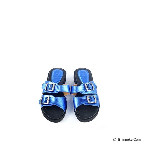 IN HER SHOES Juno Size 38 - Metallic Blue - Slippers Wanita