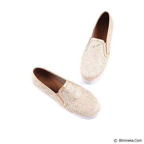 IN HER SHOES Wally Lace Size 38 - Gold - Sneakers Wanita