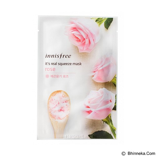 INNISFREE It's Real Squeeze Mask Rose (Merchant) - Masker Wajah