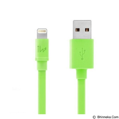 INNOWATT Flat Lightning Cable MFI [I7440315] - Green - Cable / Connector Usb