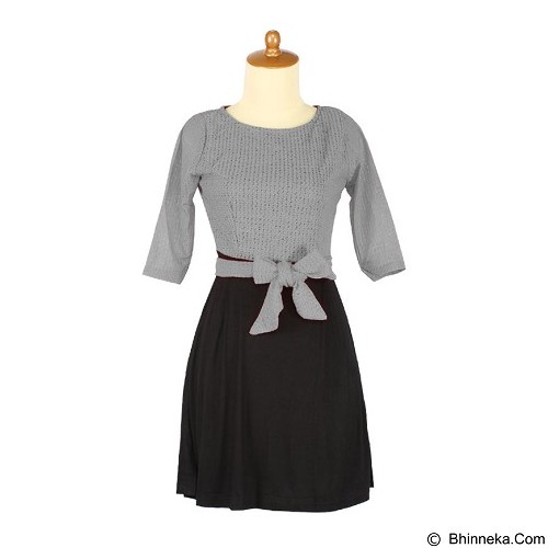 IYESH Dress [HENN3010 - 3010] - Grey (Merchant) - Midi Dress Wanita
