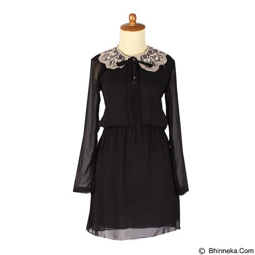 IYESH Dress [IYBF0004 - 0004] - Black (Merchant) - Midi Dress Wanita