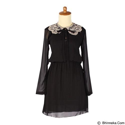 IYESH Dress [IYBF0004 - 0004] - Black (Merchant) - Midi Dress Wanita
