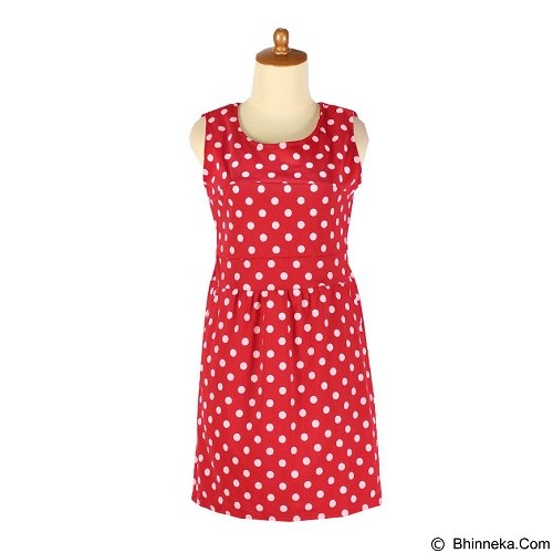 IYESH Dress Polka [IYBF0005 - 0005] - Red (Merchant) - Midi Dress Wanita