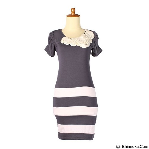 IYESH Dress Wanita [HEBO1237-1237] - Grey (Merchant) - Mini Dress Wanita