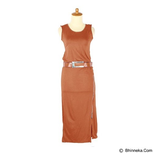 IYESH Dress Zipper [HENN0230 - 10230] - Orange (Merchant) - Maxi Dress Wanita