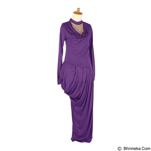 IYESH Maxi Bottega [HEPU1096 - 1096] - Dark Purple (Merchant) - Maxi Dress Wanita