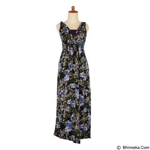 IYESH Maxi Bunga [HENK0045-0045] - Blue (Merchant) - Maxi Dress Wanita