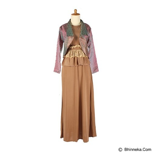 IYESH Maxi [HEDU0923- 90923] - Light Brown (Merchant) - Gamis Wanita
