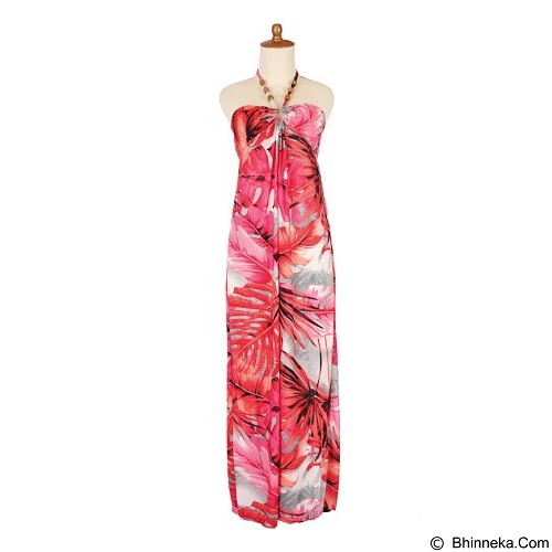 IYESH Maxi Hawai [HENK0055-0055] - Red (Merchant) - Maxi Dress Wanita