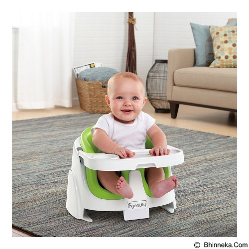 Ingenuity Baby Base 2in1 Booster Seat Lime Kursi Bayi (Merchant) - Baby Highchair and Booster Seat
