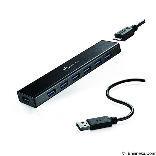 J5CREATE 7 Port HUB USB3.0 [JUH377] - Cable / Connector Usb