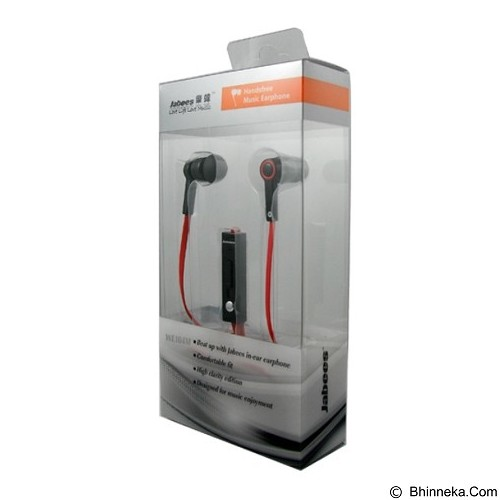 JABEES Stereo Earphone [WE104M] - Red (Merchant) - Earphone Ear Monitor / Iem