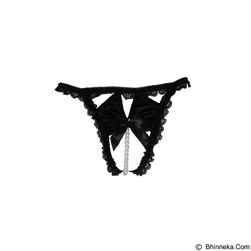 JAKARTA LINGERIE Gstring Pearl Sexy Open Crotch [JLG081B] - Black - Lingerie
