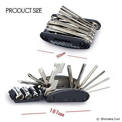 JAYA GROSIR Mini Kunci Shock Sepeda Multifunction Tool 16 In 1 - Kunci L / Hex