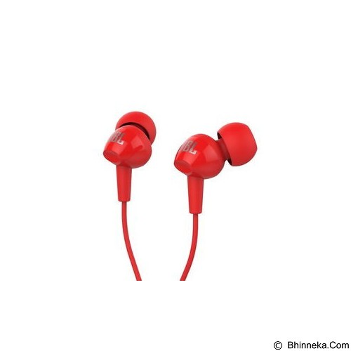 JBL In Ear Headphone [C100SI] - Red (Merchant) - Earphone Ear Monitor / Iem