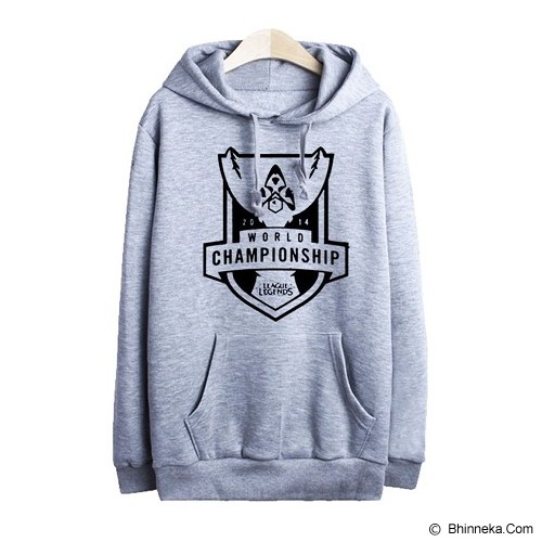 JERSICLOTHING Hoodie League of Legends Velvet/Flock Print Size L - Grey - Sweater / Cardigan Pria