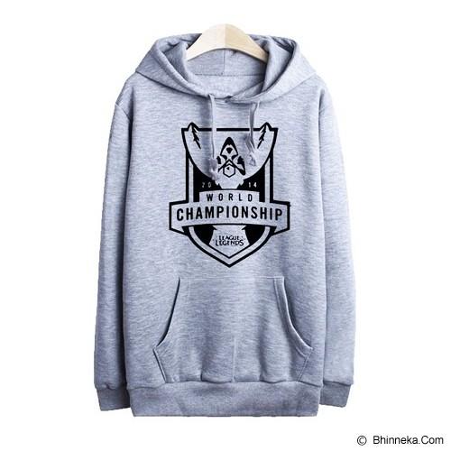 JERSICLOTHING Hoodie League of Legends Velvet/Flock Print Size M - Grey - Sweater / Cardigan Pria