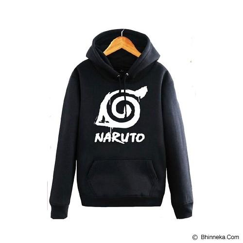 JERSICLOTHING Hoodie Naruto Velvet/Flock Print Size S - Black - Sweater / Cardigan Pria