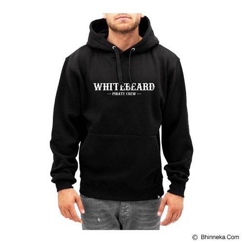 JERSICLOTHING Hoodie One Piece White Beard 2 Sisi Velvet/Flock Print Size L - Black - Sweater / Cardigan Pria