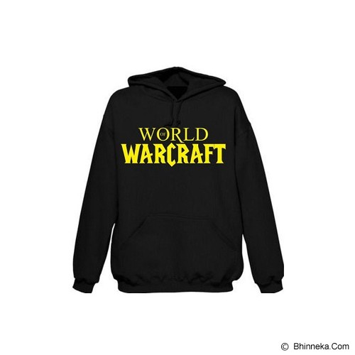 JERSICLOTHING Hoodie World of Warcraft Velvet/Flock Print Size L - Black - Sweater / Cardigan Pria