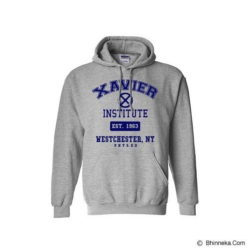 JERSICLOTHING Hoodie X-Men Xavier Institute Velvet/Flock Print Size L - Grey - Sweater / Cardigan Pria