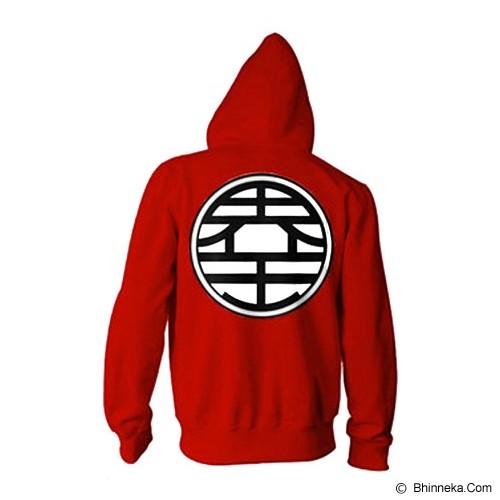 JERSICLOTHING Jaket Hoodie Dragon Ball  Velvet/Flock Print  Size XL - Red - Jaket Casual Pria