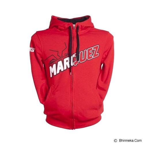 JERSICLOTHING Jaket Hoodie Marc Marquez Velvet/Flock Print Size L  - Red - Jaket Casual Pria