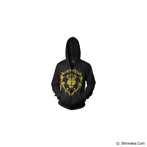 JERSICLOTHING Jaket Hoodie World of Warcraft Velvet/Flock Print Size S  - Black - Jaket Casual Pria