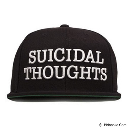 JERSICLOTHING Snapback Suicidal Thought [1609-snap-47] - Black (Merchant) - Topi Pria