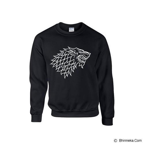 JERSICLOTHING Sweater Game of Thrones Velvet/flock Print Size XL  - Black - Sweater / Cardigan Pria