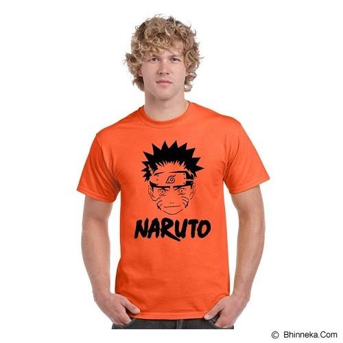 JERSICLOTHING T-Shirt Naruto Ball Velvet/Flock Print Size XXL - Orange - Kaos Pria