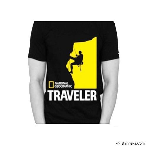 JERSICLOTHING T-Shirt National Geographic Traveler Size L - Black - Kaos Pria