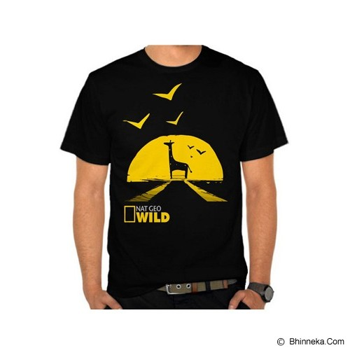 JERSICLOTHING T-Shirt National Geographic Wild Size L - Black - Kaos Pria