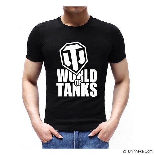 JERSICLOTHING T-Shirt World of Tanks Velvet/Flock Print Size XL - Black - Kaos Pria