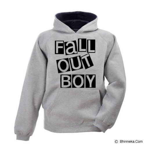 JERSICLOTHING Unisex Hoodie Fall Out Boy Size S - Grey - Jaket Casual Pria