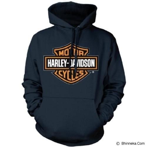 JERSICLOTHING Unisex Hoodie Harley Davidson Size XL - Black - Jaket Casual Pria