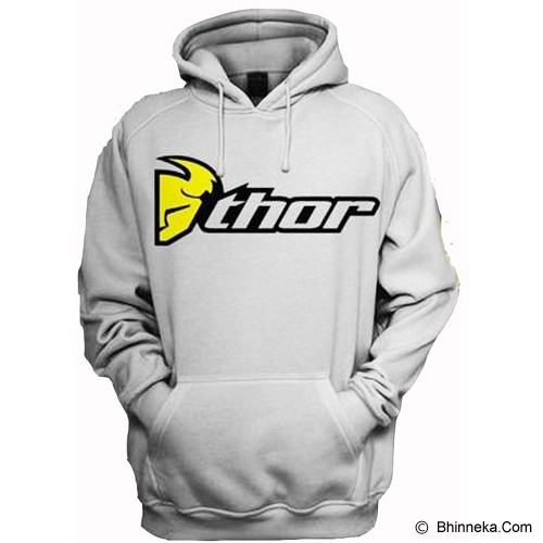 JERSICLOTHING Unisex Hoodie Thor Size L - Grey - Jaket Casual Pria