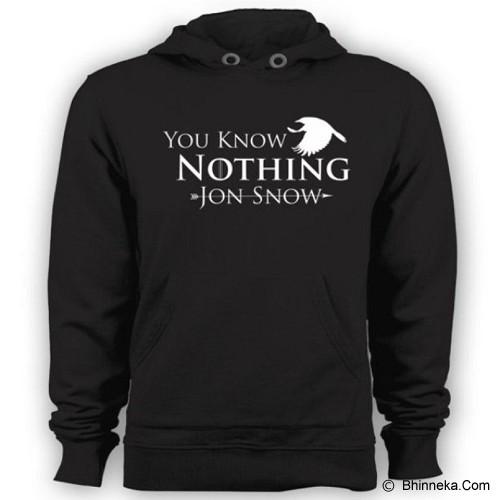 JERSICLOTHING Unisex Hoodie You Know Nothing Jon Snow Size XL - Black - Jaket Casual Pria