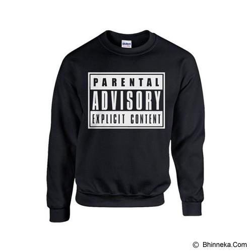 JERSICLOTHING Unisex Sweater Parental Advisory Hitam Size  L - Black - Sweater / Cardigan Pria