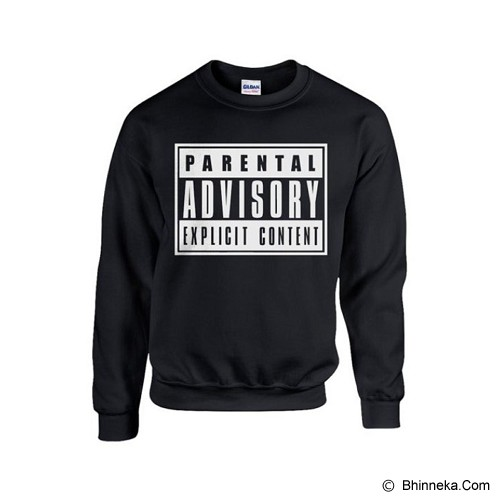 JERSICLOTHING Unisex Sweater Parental Advisory Hitam Size  M - Black - Sweater / Cardigan Pria