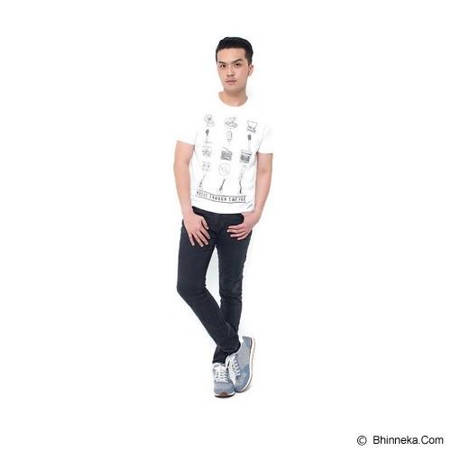 JINSHOUSE T Shirt Music Trough The Age Size S [006-TS.002] - White - Kaos Pria